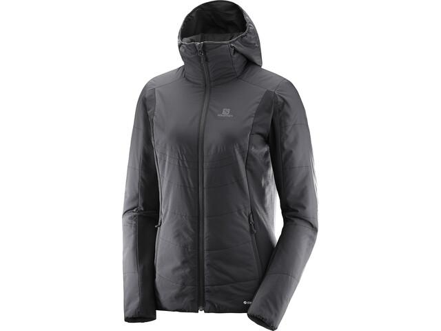 Salomon W's Drifter Mid Hoodie Jacket Black
